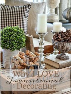 5 Eager Cool Ideas: Transitional Living Room Neutral transitional house tips. Coffee Table Vignettes, Fall Vignettes, Coffee Table Styling, Decorating Coffee Tables, Tray Styling, Transitional Living Rooms, Transitional House, Transitional Wall Decor, Transitional Lighting