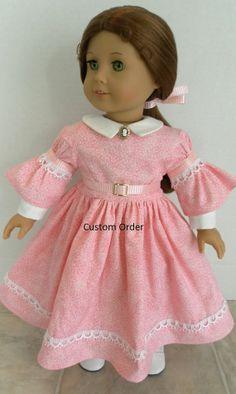 1850s Dress by JessicasDollCloset, $80.00