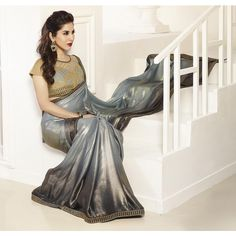 Silver Shimmer Sophie Choudry Saree