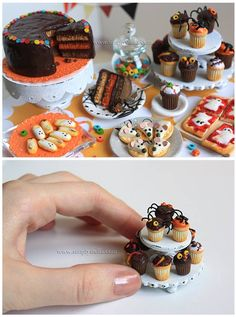 Casa de muñecas en miniatura hechas a mano salmón Juego De Té Cerámica Glaseada