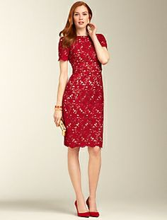 Talbots Floral Lace Dress