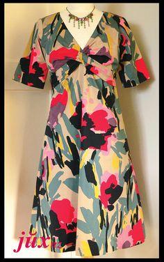 New Look 6071 floral dress http://juxtaposenz.blogspot.co.nz/