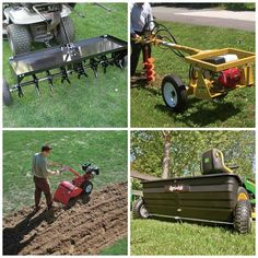 Must have equipment to shape up the yard.