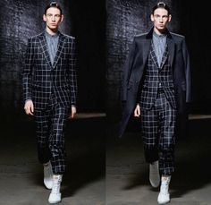 Alexander McQueen 2014 Pre Spring Mens Collection - Cruise Resort - Cargo Pockets Colored Denim Jeans Red Outerwear Trench Coat Jacket Blaze...