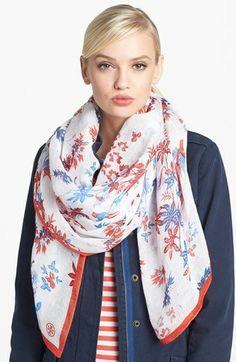 Tory Burch 'Barelia' Scarf available at #Nordstrom