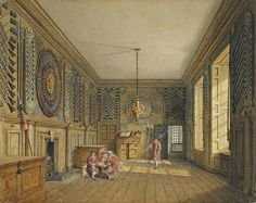 St James's Palace, Guard Chamber, by Charles Wild, 1818 - royal coll 922162 313721 ORI 2 - St James's Palace - Wikipedia, the free encyclopedia