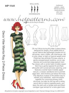 HotPatterns - HP 1141 Deco Vibe Manta Ray 2-Piece Dress, $18.95 (http://www.hotpatterns.com/hp-1141-deco-vibe-manta-ray-2-piece-dress/)