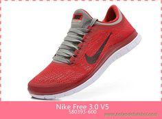 Masculino 580393-600 Vermelho/Cinza Nike Free 3.0 V5 venda de chuteiras