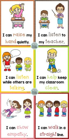 Classroom Expectations ~ Posters, Book, and Brag Tags Classroom Expectations (rules) ~ Posters, book Preschool Classroom Rules, Preschool Behavior, Kindergarten Classroom Management, Classroom Charts, Preschool Learning Activities, Classroom Behavior, Classroom Language, Classroom Themes, Teaching Kids