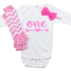 Baby Girl First Birthday Outfit, Bubble Gum Pink 1st birthday set, Sequin bow and leg warmers, Pink Chevron Leg Warmers