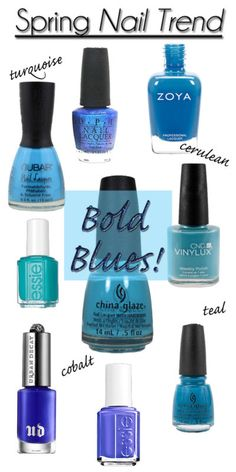 You can never have enough blue nail polish