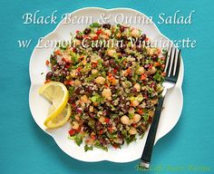 Black Bean & Quina Salad w/ Lemon-Cumin Vinaigrette
