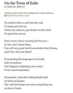 the crutches poem by bertolt brecht