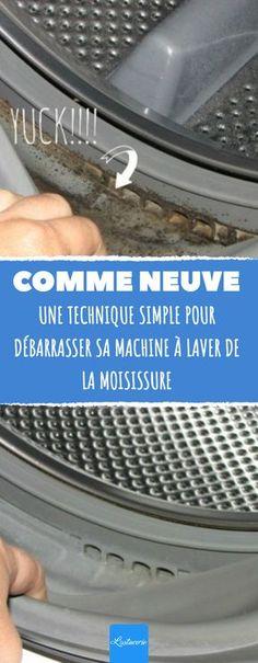 Une technique simple pour débarrasser sa machine à laver de la moisissure