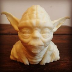 Yoda head printed in Glow in the Dark Filament