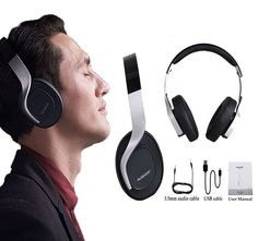 AUSDOM M08 Wireless Bluetooth4.0 Foldable Bass Stereo Sports Headphones