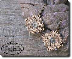 Soutache Necklace, Beaded Earrings, Beaded Jewelry, Handmade Jewelry, Fabric Jewelry, Jewelry Art, Jewelry Design, Soutache Tutorial, Ideas Joyería