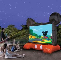 No Check... $200 Mickey Mouse Blow Up Screen