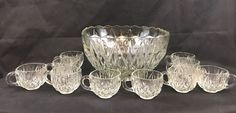 Vintage Williamsport Glass Punch Bowl Set 10 Piece Collectible Gift   Pottery & Glass, Glass, Glassware   eBay!