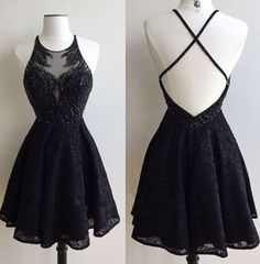 Black Lace Prom Dress,Short Special Occasion Dresses,Short Prom Dress,Homecoming Dress,Graduation Dresses,Cut Party Dress