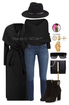 """""""Untitled #2949"""" by stylebydnicole ❤ liked on Polyvore featuring rag & bone, Movado and Salvatore Ferragamo"""
