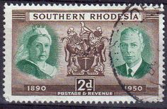 Southern Rhodesia 1950 Diamond Jubilee Fine Used SG 70 Scott 73 Other British Commonwealth stamps for sale here