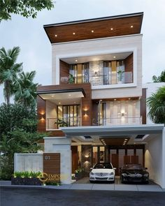 Top 30 Modern House Design Ideas For 2020 3 Storey House Design, Flat House Design, Bungalow Haus Design, Modern Small House Design, Modern Minimalist House, Duplex House Design, Townhouse Designs, Small Modern Home, House Front Design