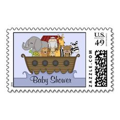 Noah's Ark Baby Shower Postage Stamps! Make your own stamps more personal to celebrate the arrival of a new baby. Just add your photos and words to this great design.