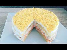Aperitiv salata mimosa rapida si ideala pentru sarbatorile de iarna | Ensalada mimosa - YouTube Tapas, Vanilla Cake, Make It Yourself, Cooking, Desserts, Recipes, Foods, Facebook, Pastries Recipes