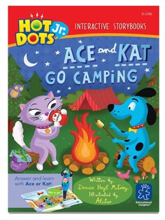Hot Dots Jr - Interactive Educational Storybook - Ace and Kat Go Camping