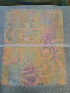 AlyZen Moonshadow Blog ~ Deli Paper and Gelli® Prints