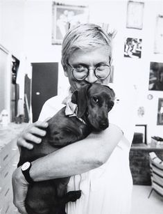 David Hockney, 2 Works: Dachshunds