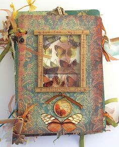 'Love Among the Butterflies' altered book