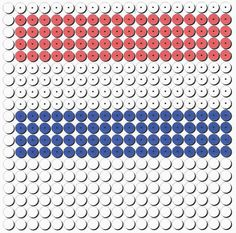 Kralenplank: Hollandse vlag