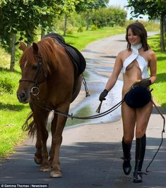 riding boots girl naked