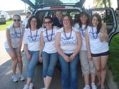 Sarah, Christina, Mindee, Krista, and Brenda before the Morningside Days Parade.