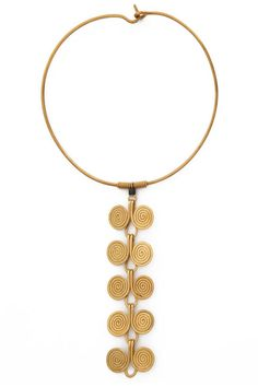 Indagare Spiral Choker - Shop more of the best chokers to up your jewelry game: http://www.harpersbazaar.com/fashion/fashion-articles/choker-necklace-jewelry-trend