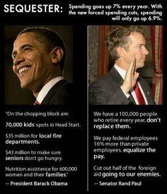 Obama rhetoric and Rand Paul fix. #obamaquester