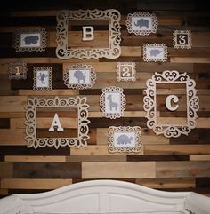 Project Nursery - Nursery Wood Accent Wall and Gallery Wall