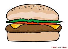 Food Clip Art | Hamburger Clipart
