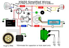8 Best XS 650 images | Cafe racer parts, Buell cafe racer ... Xs Wiring Diagram Kick Only on