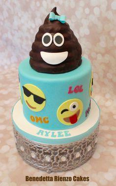 Girly Poop Emoji - Cake by Benni Rienzo Radic Pear And Almond Cake, Almond Cakes, Emoji Cake, Fig Cake, Birthday Cake Girls, Birthday Cakes, Baby Birthday, Minnie Mouse, Pecan Cake