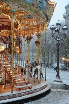 Caroussel in Paris, France | Magical ride! #winterlove #magic