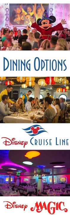 Restaurants and Dining Options on board the Disney Cruise Line (DCL) Disney Magic.  Hints and Hacks, Tips and Tricks to get the best out of your Disney Cruise Vacation. Palo, Cariocas, Animator's Palate and Lumiere's. All about food on the Disney Magic.