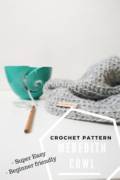 Super easy, beginner friendly Meredith Cowl #crochet pattern by MyLovelyHook