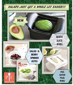 Salads just got a lot easier with our new Quick Slice. Perfect for softer vegetables and cheeses.