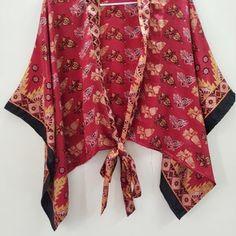 Women's Wrap Top Kimono Top Kimono Style Blouse | Etsy Boho Kimono, Kimono Fashion, Kimono Top, Kimono Style, Bohemian Blouses, Bohemian Tops, Cardigans For Women, Blouses For Women, Shrugs And Boleros