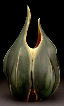 Ceramic pods by Andy Rogers.