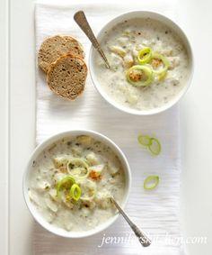 Vegan Cream of Potato and Artichoke Soup