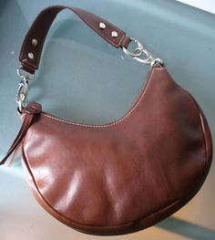 Leather School Florence Italy Hobo Style Shoulder Bag by EurotrashItaly on Etsy